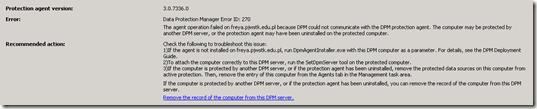 DPM Error